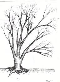 leafless tree drawing tattoos