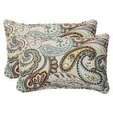 2 pc outdoor wicker seat cushions tamara paisley pillow