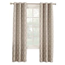 At Home Curtains Mushroom Banks Pattern Window Curtain Panel 84 In At Home At Home