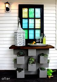 before u0026 after cinder block planter bar u2013 design sponge