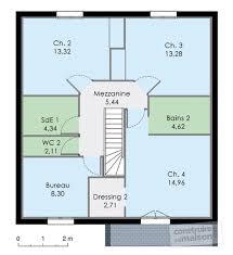 plan de maison 4 chambres avec age plan maison 5 chambres avec etage