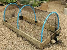 making crop protection tunnels for raised beds
