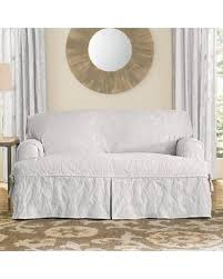 sure fit matelasse damask t cushion sofa slipcover slash prices on sure fit matelasse damask 1 piece t cushion kick