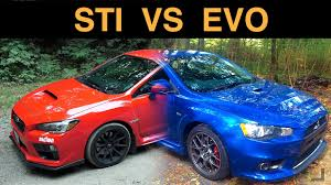 evo subaru wrx sti vs mitsubishi evo x which awd sedan is best