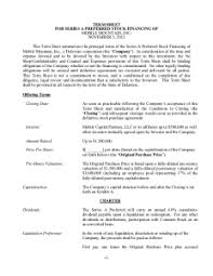 Term Sheet Template The Holy Grail Of Entrepreneurship The Term Sheet Part 1