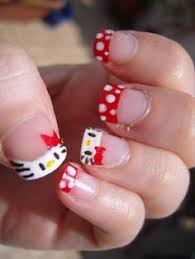 easy hello kitty nail design cute hello kitty nail designs