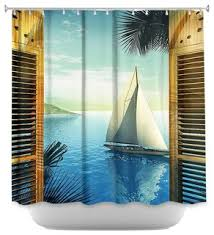 Sailboat Shower Curtains Set Sail Shower Curtain Style Shower Curtains By