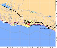 santa barbara california map santa barbara california ca profile population maps