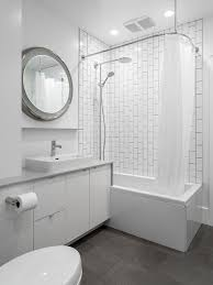 Houzz Black And White Bathroom Vertical Subway Tile Houzz