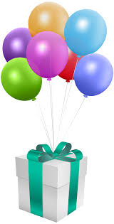balloons gift gift with balloons transparent png clip image gallery