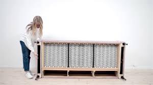 Karlstad Sofa Bed Slipcover Isunda Gray by How To Put Your Bemz Cover On An Ikea Karlstad Sofa Youtube