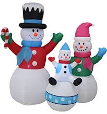 8ft snowman family indoor outdoor