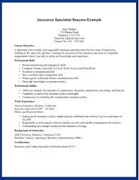It Specialist Resume Sample by Health Insurance Specialist Resume Sample Recentresumes Com