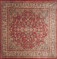 Red Area Rug by Persian Moshk Abad Red Square 9 Ft And Larger Wool Carpet 12078