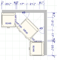 how to measure corner cabinets make the best use of a corner in a kitchen layout rta wood