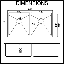 Sink Dimensions Kitchen by Double Kitchen Sink Dimensions Home Design