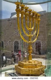 jerusalem menorah golden menorah in jerusalem israel stock photo royalty free