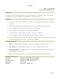 Sample Sql Server Dba Resume by Gowri Mnc Resume Fresher Sql Server