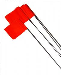 100 Pics Flags Stake Flags On Wire Presco 100 Flags Prospectors Supplies