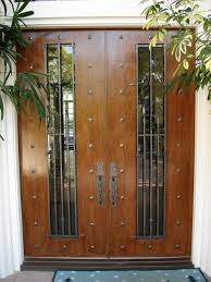 surprising entry door with lite combined solid wood rails and