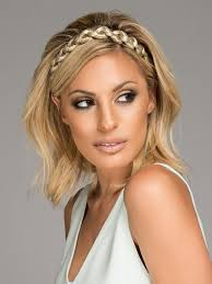plait headband thick braid by christie brinkley headband hair extensions