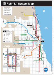 Metro Chicago Map by Cta Map Loop My Blog
