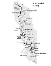 Sonoma Winery Map Wine Road Wine Road