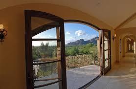 balcony door design deck mediterranean with tile flooring french