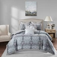 bombay bedding bombay norton grey comforter set free shipping today overstock