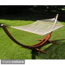 grand cayman teak finish wood hammock base only by christopher