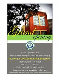 Invitation Card Grand Opening St Paul U0027s Episcopal Church New Orleans