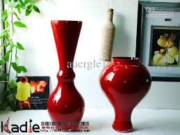 Vases For Sale Wholesale Red Black Floor Glass Vase Home Decoration Wedding Gift Art Bag