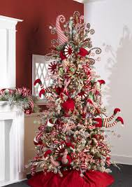 tree decorated with raz peppermint ornaments