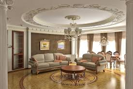 interior fabulous large living room with glow coffered ceiling