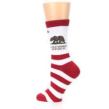 California Flag Horse Red White California Flag Us Made Women U0027s Dress Socks K Bell Socks