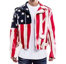 pink leather motorcycle jacket amazon com men faux leather american flag moto jacket by hudson