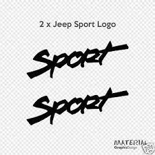 jeep wrangler sahara logo 2x jeep sport logo sticker decal wrangler moab sahara rubicon x