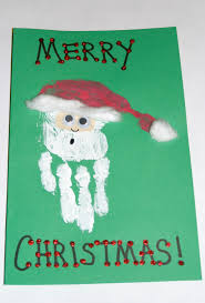 musings in mass handprint santa christmas card
