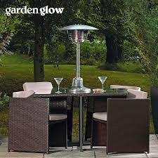 Table Top Gas Patio Heaters Garden Glow 4kw Table Top Gas Patio Heater Waltons Sheds