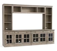 Media Cabinets With Doors Awesome Living Rooms Livingston Medium Media Suite Gray Pottery