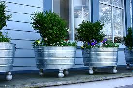 Planters On Wheels by Galvanized Washtubs In My Cottage Garden