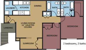 Sunroom Floor Plans by Floor Plans Mrg Apartments