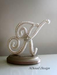 k cake topper wedding cake topper monogram letter k in ivory by ndetaildesign
