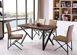 Oak Top Dining Table Stainless Steel Leg Oak Wood Top Dining Table In Dining Tables