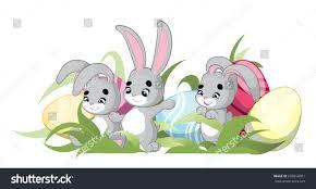 greeting cardbanner easter rabbit funny bunny stock vector
