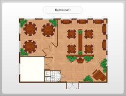 Professional Floor Plan Software Café Floor Plan Example Professional Building Drawing