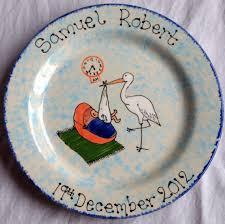 birth plate keepsake newborn stork plate christening new birth plates baby keepsakes