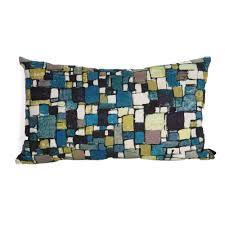 coussin rectangulaire pour canapé coussin rectangulaire bleu rubiscube pour canapé