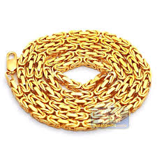 byzantine chain necklace images Mens pure 24k yellow gold solid byzantine chain necklace 4 mm jpg