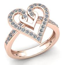 real promise rings images Real 2carat round cut diamond ladies heart promise engagement ring jpg